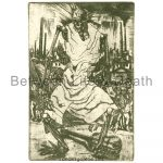 """Aloys Wach """"Totentanz"""" (Dance of Death): dry-point (Faksimile)"""